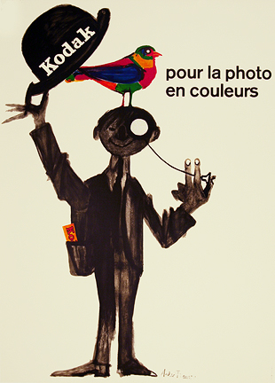 KODAK - FOR COLOR PHOTOS  Original, vintage, poster by André
